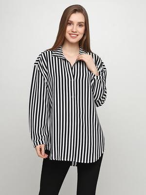 Блуза чорно-біла в смужку | 5465028