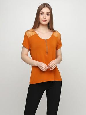 Блуза гірчичного кольору | 5465033