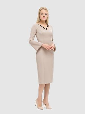 Платье бежевое | 5465135