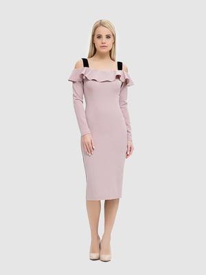 Сукня кольору димної троянди | 5465151