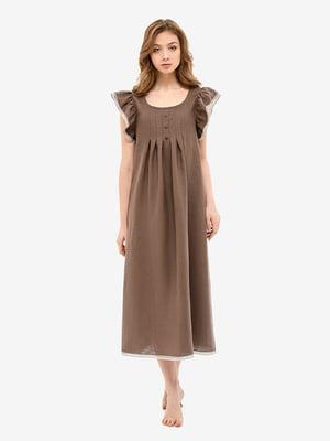 Сорочка нічна коричнева | 5465169