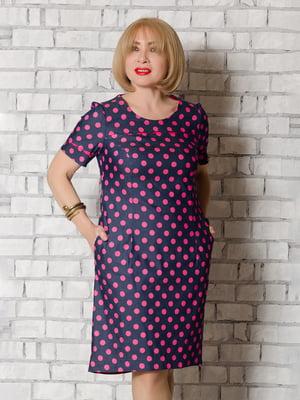 Сукня синя в рожевий горох   5465282