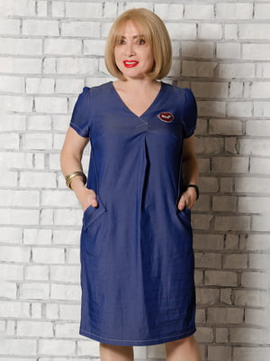 Сукня синя з малюнком | 5465289