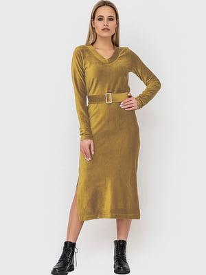 Сукня кольору охри | 5465154