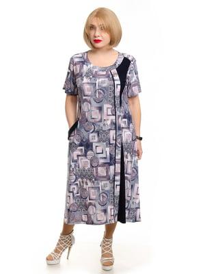 Платье в геометрический принт   5450767