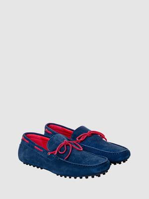 Топсайдеры сине-малинового цвета | 5467128