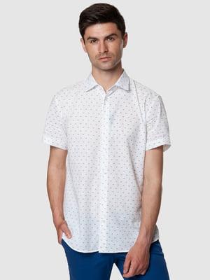 Рубашка белая в мелкий принт | 5467139