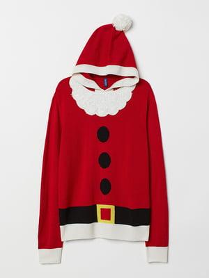 Джемпер карнавальный красный с декором | 5466084