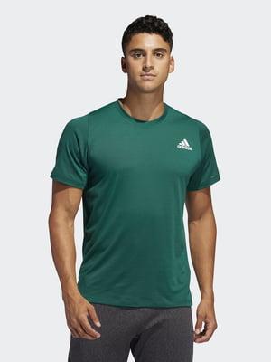 Футболка зеленая с логотипом | 5465480