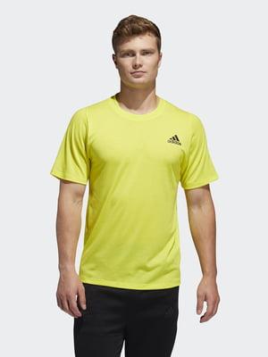 Футболка желтая с логотипом   5467466