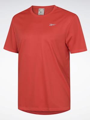 Футболка красная с логотипом | 5465495