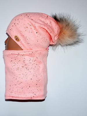Комплект: шапка і шарф-снуд   5284785