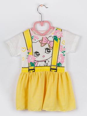 Сукня комбінованого кольору в квітковий принт | 5461388