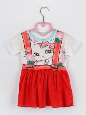 Сукня комбінованого кольору в квітковий принт | 5461376