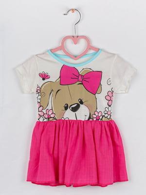 Сукня комбінованого кольору в квітковий принт | 5461377
