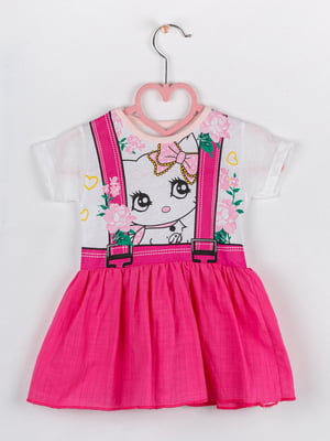 Сукня комбінованого кольору в квітковий принт | 5461387