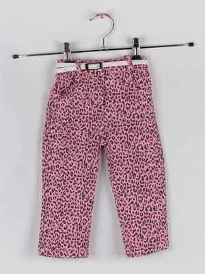 Штани рожеві у принт | 5461292