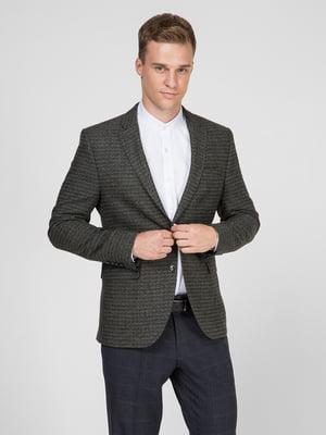Пиджак зеленый с узором | 5467408
