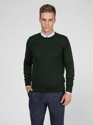 Джемпер зеленый с узором | 5467419