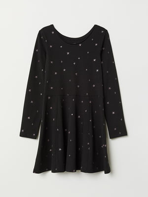Сукня чорна з принтом   5471794