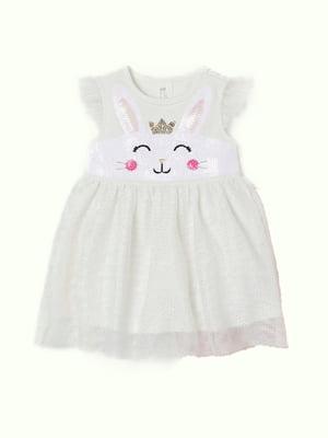 Сукня молочного кольору з малюнком   5471835