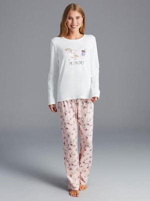 Пижама: лонгслив и брюки | 5262360