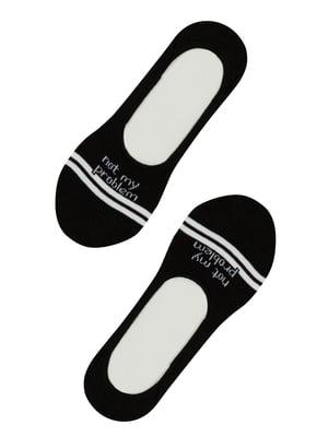 Носки черные в принт   5444692