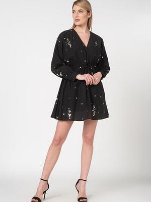 Платье черное в рисунок | 5466187
