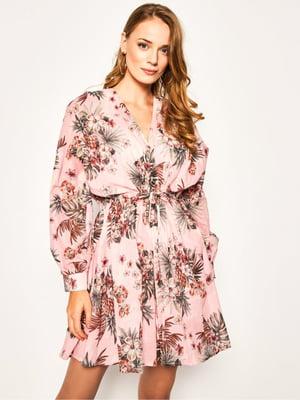 Платье розовое в принт | 5466188