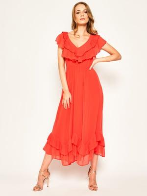 Платье кораллового цвета | 5466198