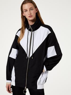 Куртка чорно-біла | 5466224
