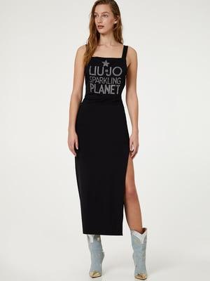 Платье черное в рисунок | 5466246