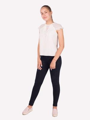 Блуза молочного цвета   5472356