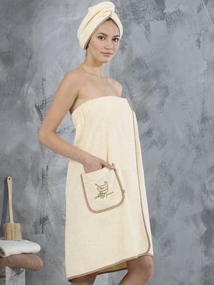 Комплект для сауни: сарафан і чалма (44-46) | 5472422
