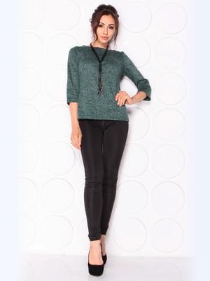 Блуза темно-смарагдового кольору | 5472636