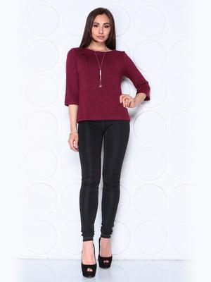 Блуза сливового цвета с рукавом 3/4 | 5436544