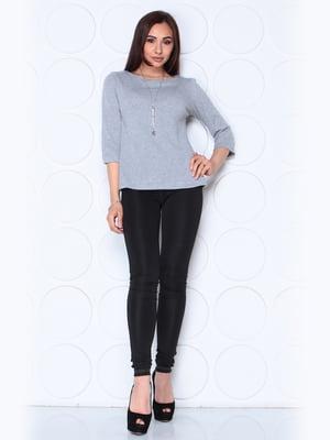 Блуза серого цвета с рукавом 3/4 | 5436545