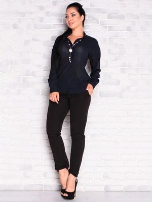 Блуза темно-синяя | 5436555