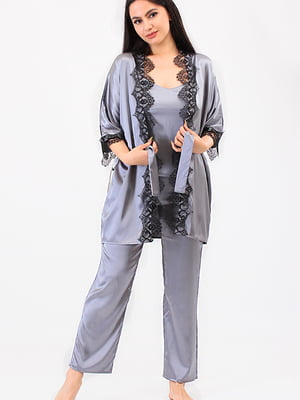 Пижама: топ, халат и брюки | 5473448
