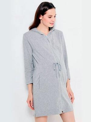 Халат для вагітних і молодих мам сірий | 5473708