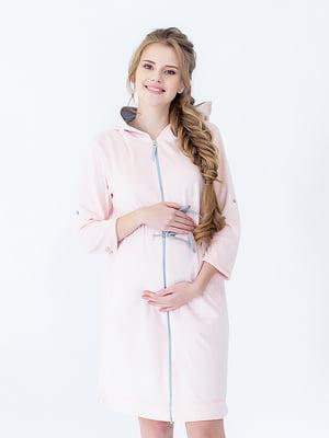 Халат для вагітних і молодих мам рожевий | 5473709
