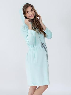 Халат для вагітних і молодих мам м'ятного кольору | 5473711
