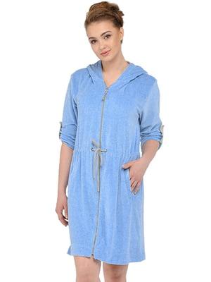 Халат для вагітних і молодих мам блакитний | 5473712