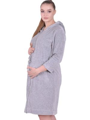 Халат для вагітних і молодих мам сірий | 5473713