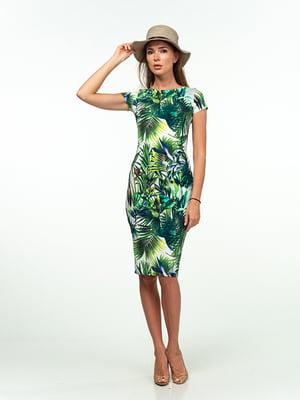 Платье в растительный принт | 5473347
