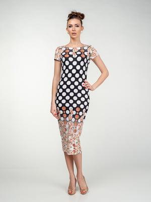 Платье в горох и в цветочный принт   5473350