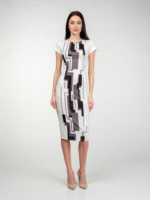 Сукня біла в абстрактний принт   5473354