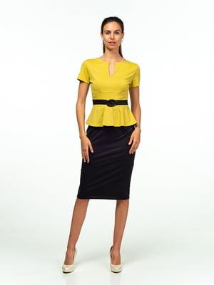 Платье черно-салатового цвета | 5473357