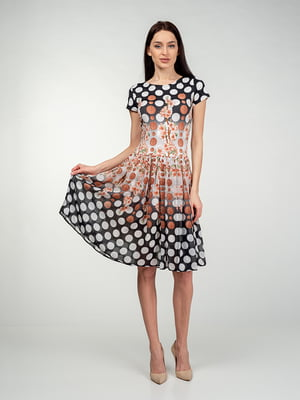 Сукня в горох і квітковий принт | 5473360