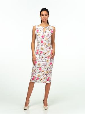 Сукня біла в квітковий принт | 5473377